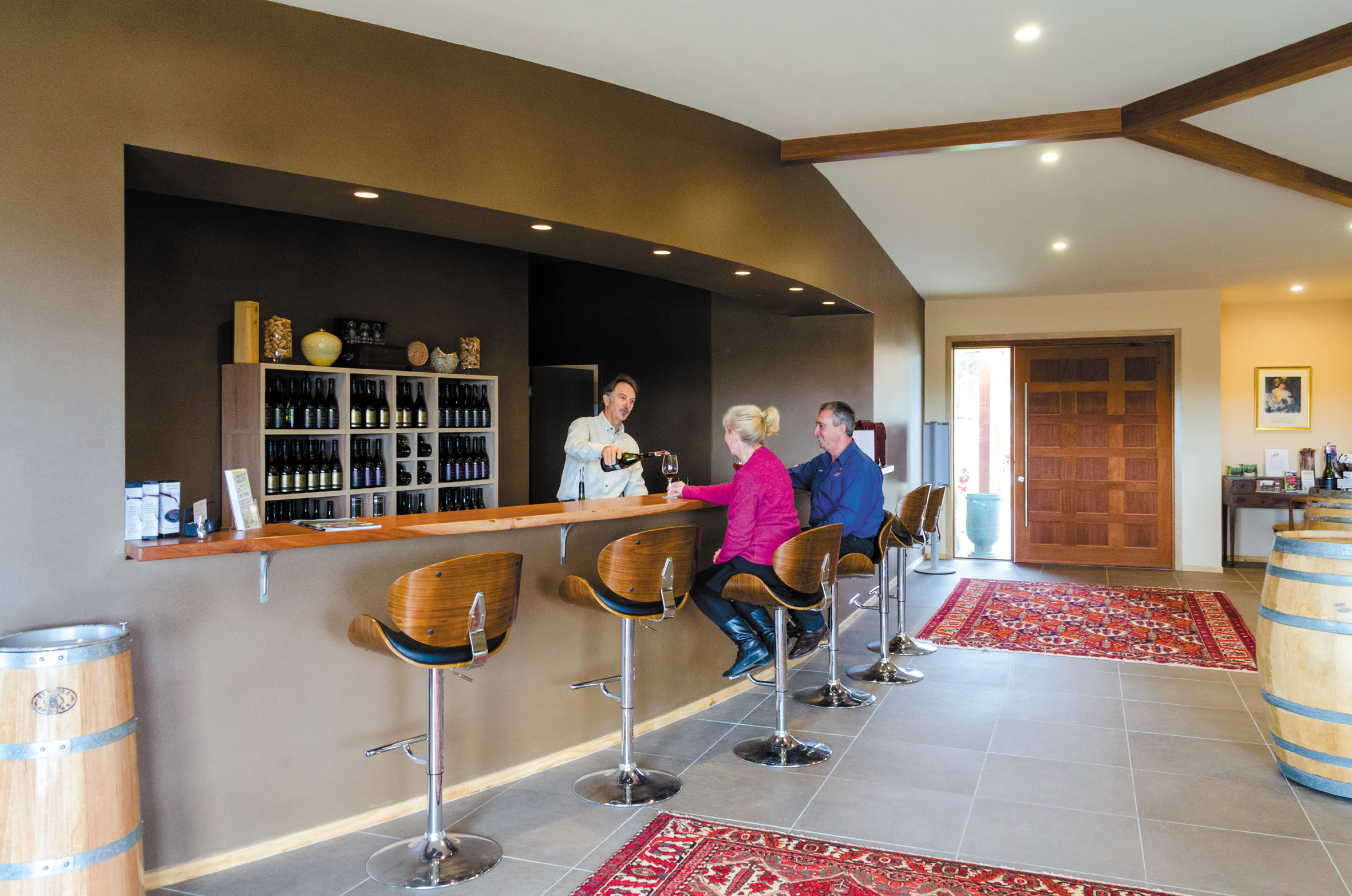 Wine tasting in the new cellar door