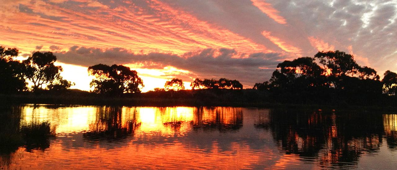 savina lane sunset on the lake